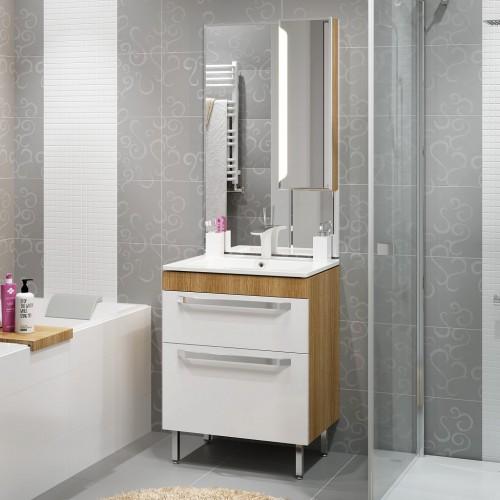 Комплект мебели для ванной Alavann Praga 75 дуб корица