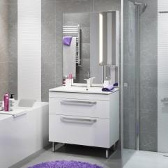 Комплект мебели для ванной Alavann Praga 85 белый