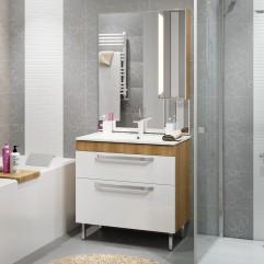 Комплект мебели для ванной Alavann Praga 85 дуб корица