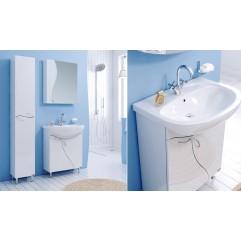 Комплект мебели для ванной Alavann Кристел 65 белый