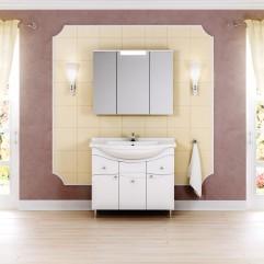 Комплект мебели для ванной Alavann Лорен 100 белый