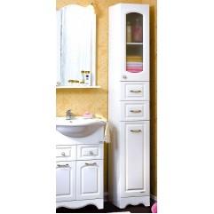 Пенал для ванной с бельевой корзиной Анна 32 белый