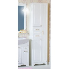 Пенал для ванной с бельевой корзиной Анна 52 белый
