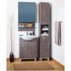 Комплект мебели для ванной Бриклаер Карибы 60 сатин/дуб антик