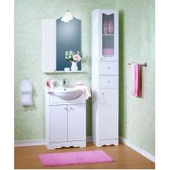 Комплект мебели для ванной Бриклаер Лючия 60 со шкафчиком белый