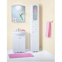 Комплект мебели для ванной Бриклаер Лючия 55 белый