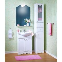 Комплект мебели для ванной Бриклаер Лючия 60 белый