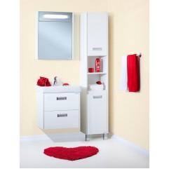 Комплект мебели для ванной Бриклаер Палермо 60 подвесной белый