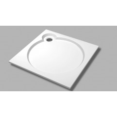 Встраиваемый литой поддон из искусственного мрамора TRAY-S-A-100-56-GR 100х100х5.6