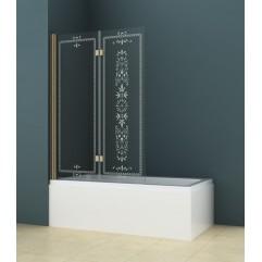 Душевая шторка на ванну 175х195см прозрачное стекло ROYAL ROYAL PALACE-V-21-120/145-C-Br
