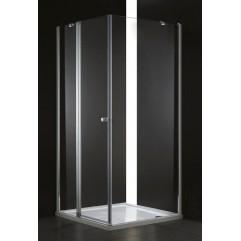 Душевой уголок Cezares прозрачное стекло 90x90x195см ELENA-W-A-12-90-C-Cr