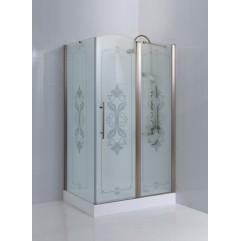 Душевой уголок Cezares Giubileo прозрачное стекло с матовым узором 120x90x195см GIUBILEO-AH-11-120/90-CP-Cr-L