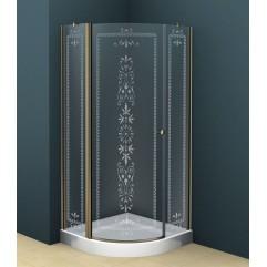 Душевой уголок 90x90 прозрачное с матовым принтом стекло CEZARES ROYAL PALACE-R-1-90-CP-Br