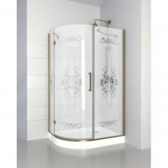 Душевой уголок 120x90 матовое с прозрачным принтом стекло CEZARES MAGIC-RH-1-120/90-ROYAL PALACE-PP-Br-L