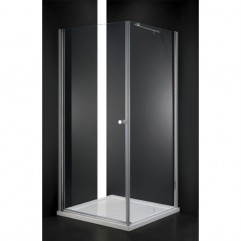 Душевой уголок Cezares прозрачное стекло 80x80x195см ELENA-W-A-1-80-C-Cr