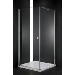 Душевой уголок Cezares текстурное стекло 80x80x195см ELENA-W-A-1-80-P-Cr-R
