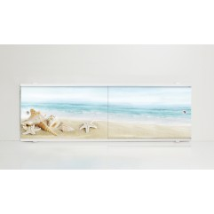 Экран под ванну 150 см. Alavann Print ракушки (раздвижной)