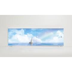 Экран под ванну 150 см. Alavann Print лодка (раздвижной)
