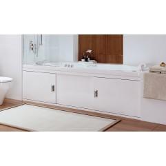 Экран под ванну 170 см. Alavann Still алюминиевый белый (раздвижной)
