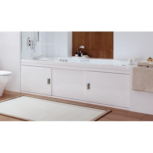 Экран под ванну 150 см. Alavann Still алюминиевый белый (раздвижной)