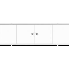 Экран под ванну 170 см. Метакам  Купе белый матовый