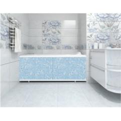 Экран под ванну 150 см. Метакам Кварт голубой иней (раздвижной)