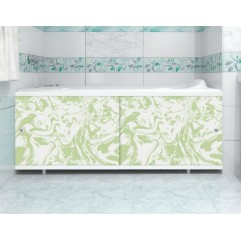 Экран под ванну 150 см. Метакам Кварт мрамор зеленый (раздвижной)