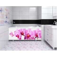 Экран под ванну 170 см.Метакам Ультралегкий-арт цветы (раздвижной)