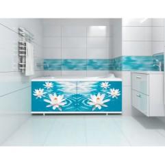 Экран под ванну 150 см.Метакам Ультралегкий-арт лилия (раздвижной)00095