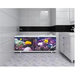 Экран под ванну 170 см.Метакам Ультралегкий-арт подводный мир (раздвижной)