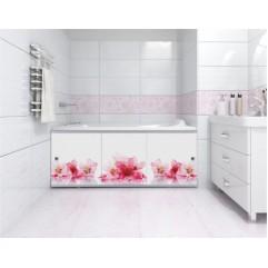 Экран под ванну 170 см Метакам Премиум Арт 170 см цветы(раздвижной)