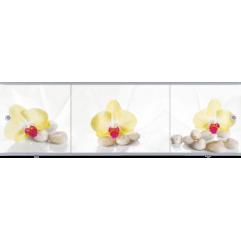 Экран под ванну раздвижной Метакам Премиум Арт 150 см цветы (на заказ)