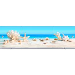 Экран под ванну раздвижной Метакам Премиум Арт 150 см ракушки (на заказ)