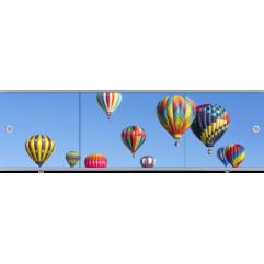 Экран под ванну раздвижной Метакам Премиум Арт 150 см воздушные шары (на заказ)