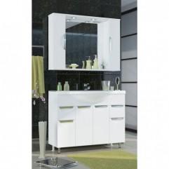 Комплект мебели для ванной Франческа Доминго 105 белый