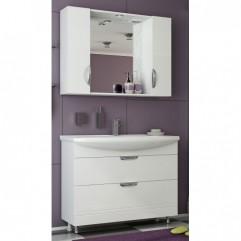 Комплект мебели для ванной Франческа Доминго 105 (2 ящика) белый