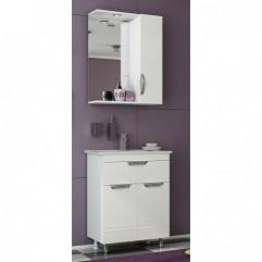 Комплект мебели для ванной Франческа Доминго 60 с 1 ящиком белый