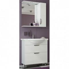 Комплект мебели для ванной Франческа Доминго 75 с 2 ящиками белый