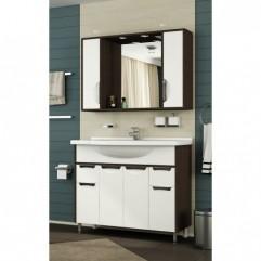 Комплект мебели для ванной Франческа Версаль 100 белый/венге