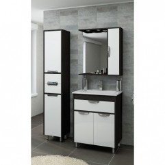 Комплект мебели для ванной Франческа Версаль 70 с 1 ящиком белый/венге