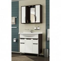 Комплект мебели для ванной Франческа Версаль 80 белый/венге