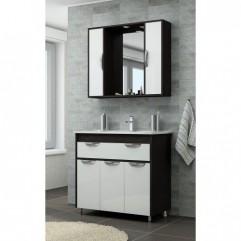 Комплект мебели для ванной Франческа Версаль 80 с 1 ящиком белый/венге