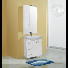 Комплект мебели для ванной Акватон Дионис 67 белый/цветной