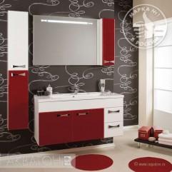 Комплект мебели для ванной Акватон Диор 100 бело-бордовый