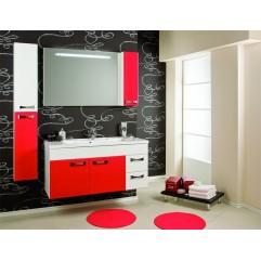 Комплект мебели для ванной Акватон Диор 120 бело-бордовый