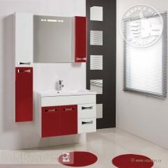 Комплект мебели для ванной Акватон Диор 80 бело-бордовый