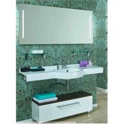 Комплект мебели для ванной Акватон Отель 150 белый