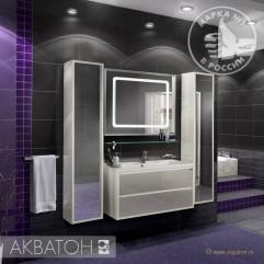Комплект мебели для ванной Акватон Римини 100 белый