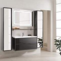 Комплект мебели для ванной Акватон Римини 100 чёрный