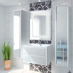 Комплект мебели для ванной Акватон Римини 80 белый
